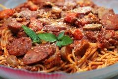 Pasta degli spaghetti Fotografie Stock