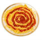 Pasta degli spaghetti con il pomodoro immagine stock