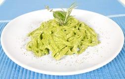 Pasta degli spinaci immagine stock libera da diritti