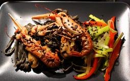 Pasta dei frutti di mare Fotografia Stock