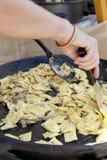Pasta dei ravioli con i funghi di porcini Immagini Stock Libere da Diritti