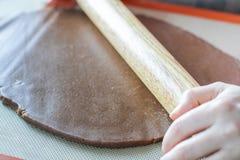 Pasta del balanceo con el rodillo Imagen de archivo