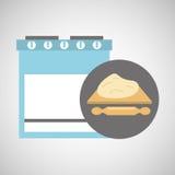 Pasta del balanceo del concepto de la panadería de la cocina Imagen de archivo