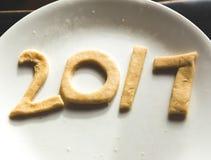 2017 in pasta del biscotto Fotografie Stock Libere da Diritti
