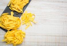 Pasta del Fettuccine con lo spazio della copia Immagine Stock Libera da Diritti