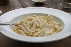 Pasta del formaggio quattro Immagine Stock