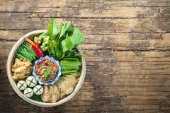 Pasta del gamberetto - cucina tailandese - alimento tailandese Fotografie Stock Libere da Diritti