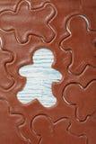 Pasta del pan de jengibre para las galletas de la Navidad fotos de archivo