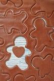Pasta del pan de jengibre para las galletas de la Navidad imágenes de archivo libres de regalías