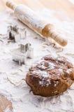 Pasta del pan di zenzero per natale immagini stock libere da diritti