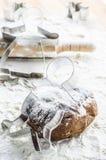 Pasta del pan di zenzero per natale fotografia stock