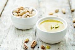 Pasta del pistacchio fotografia stock libera da diritti