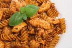 Pasta del pollo immagine stock