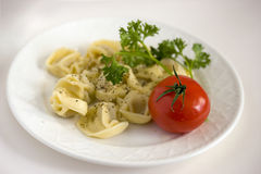 Pasta del Tortellini Immagine Stock