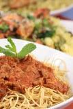 Pasta della salsa della carne fotografie stock libere da diritti
