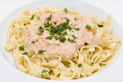 Pasta di color salmone Immagini Stock