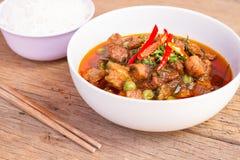 Pasta di curry di Panang con i peperoncini rossi e le spezie dolci Fotografie Stock Libere da Diritti