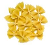 Pasta di Farfalle su bianco Fotografia Stock