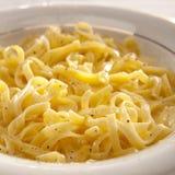 Pasta di Fettucine Alfredo Immagine Stock