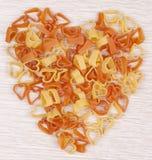 Pasta di figura del cuore Fotografie Stock