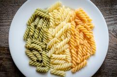 Pasta di Fusilli Fotografia Stock Libera da Diritti