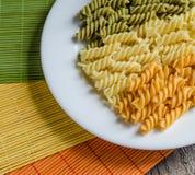 Pasta di Fusilli Fotografie Stock Libere da Diritti