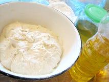 Pasta di lievito in tureen Fotografia Stock Libera da Diritti