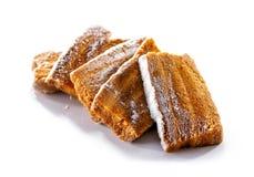 Pasta di mele & x28; pastila& x29; primo piano isolato su fondo bianco Fotografia Stock Libera da Diritti