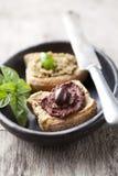 Pasta di olive immagini stock