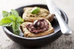 Pasta di olive fotografia stock libera da diritti