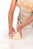 Pasta di pane della donna Fotografia Stock