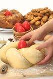 Pasta di pane di Pasqua fotografie stock libere da diritti