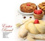 Pasta di pane dolce di Pasqua immagine stock