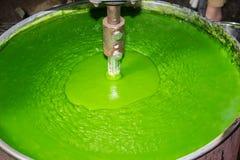Pasta di pasticceria della crema usata per fare verde Immagini Stock Libere da Diritti