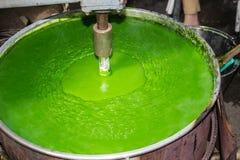 Pasta di pasticceria della crema usata per fare verde Fotografia Stock
