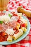 Pasta di Rigatoni Immagini Stock