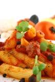 Pasta di Rigatoni Fotografie Stock
