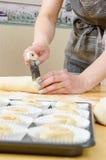 Pasta di taglio Fotografia Stock