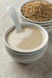 Pasta di Tahini e semi di sesamo arrostiti Fotografia Stock Libera da Diritti