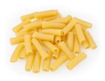 Pasta di Tortiglioni isolata su bianco fotografie stock