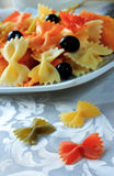 Pasta of different colors Stock Photography