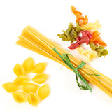 Pasta of different shapes Royalty Free Stock Photos