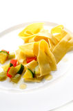 Pasta with different vegetables Stock Photos