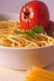 Pasta dinner. Preparing food - italian pasta royalty free stock image