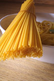 Pasta dinner. Preparing food - spaghetti, italian pasta royalty free stock images
