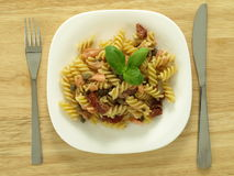 Pasta for dinner Royalty Free Stock Image