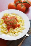 Pasta dinner Stock Photography