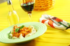 Pasta dinner Royalty Free Stock Photos