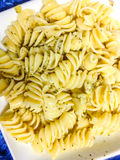 Pasta dish. With olive oil, garlic and herbs Royalty Free Stock Photos