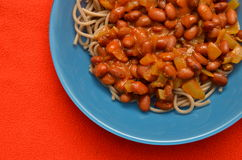 pasta dish with beans  Royalty Free Stock Photo